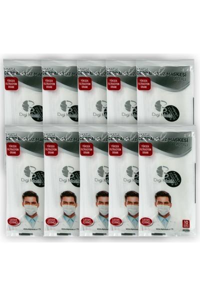 Digi Mask 3 Katlı Cerrahi Yüz Maskesi 100 Adet