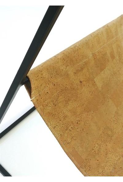 Sohomanje Gerçek Deri Küp Metal Sandalye