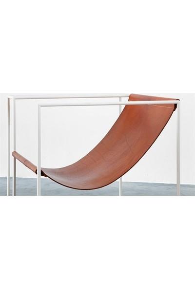 Sohomanje Gerçek Deri Küp Sandalye Sehpalı