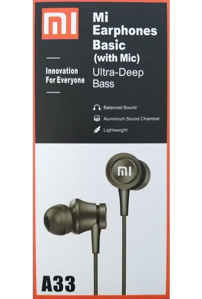Xiaomi Mı Xiaomi Earphones Basic Kulakiçi Kulaklık Ultra-Deep Bass