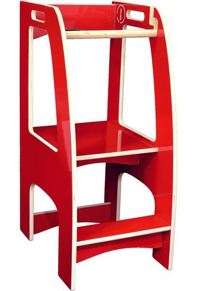 İskarpela 'everest' Ahşap Öğrenme Kulesi (Kırmızı)