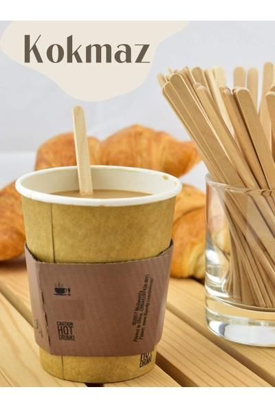The Buy Box Ahşap Tahta Çay Kahve Meşrubat Karıştırıcı 500'lü