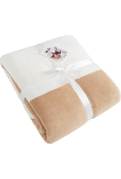 Dolce Bonita Home Tek Kişilik Pamuklu Battaniye Bir Başka Kahve Beyaz