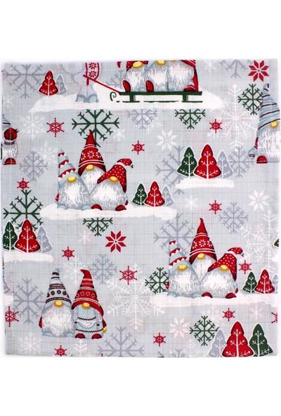 Bade Tasarım Noel Temalı Çok Amaçlı Müslin Örtü
