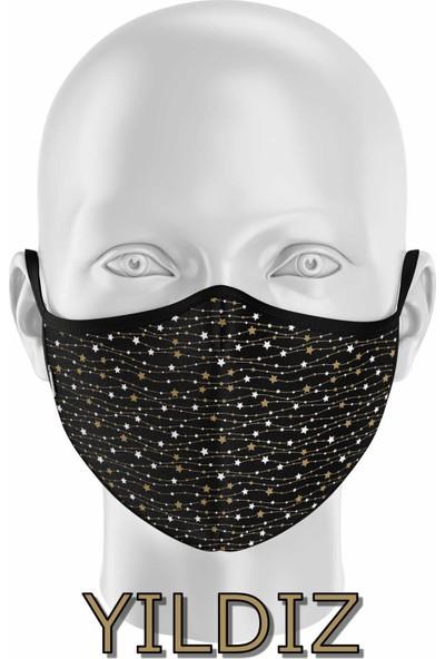İpeks Gümüş Iyonlu Yıkanabilir Maske - Yıldız