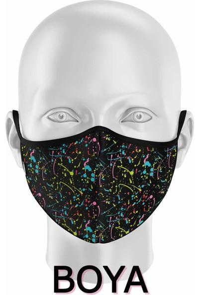 İpeks Gümüş Iyonlu Yıkanabilir Maske - Boya