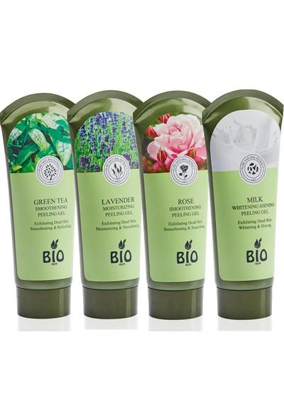 Bio Asia 4'lü Peeling Jel ( Yeşilçay & Lavanta & Gül & Süt )