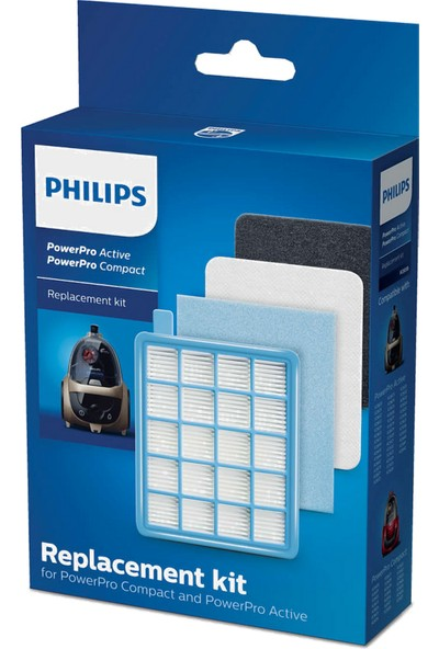 Philips FC 9323/08-09 FC 9324 PowerPro Compact Uyumlu Hepa Filtre Seti