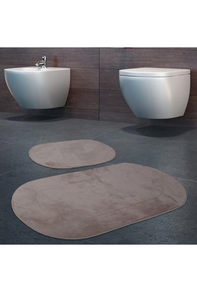 Bonny Home 2'li Rixos Vizon Kaymaz Taban Banyo Paspası & Halısı Seti