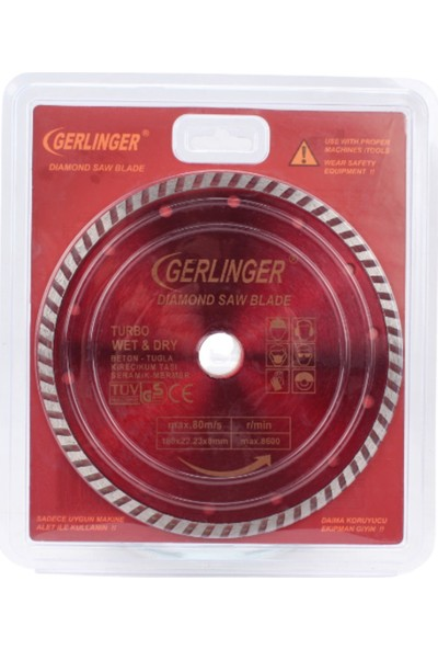 Gerlinger Elmas Testere Turbo 180*2,4 - GERET18
