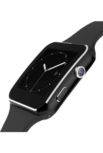 Yukka X6 Siyah Dokunmaitk Arama Kamera Bluetooth Akıllı Bileklik (Yurt Dışından)
