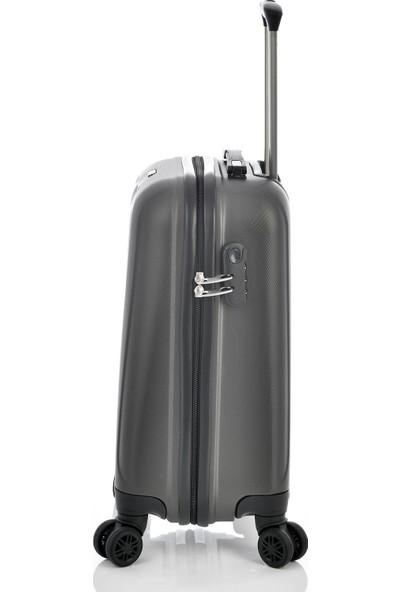 Ehs 1EH10507 Unisex 4 Tekerlekli Kabin Boy Valiz Antrasit