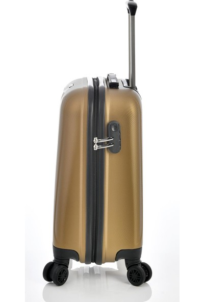 Ehs 1EH10507 Unisex 4 Tekerlekli Kabin Boy Valiz Bronz