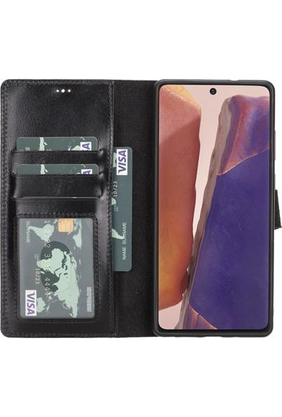 Burkley Mw Deri Telefon Kılıfı Note 20 Rst1 Siyah Rfıd Özellikli