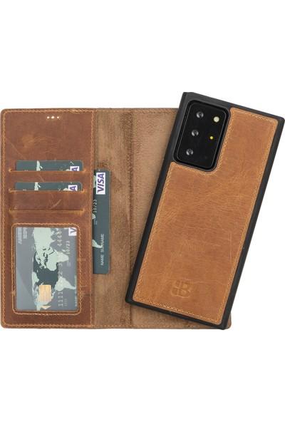 Burkley Mw Deri Telefon Kılıfı Note 20 Ultra G19 Kahve Rfıd Özellikli