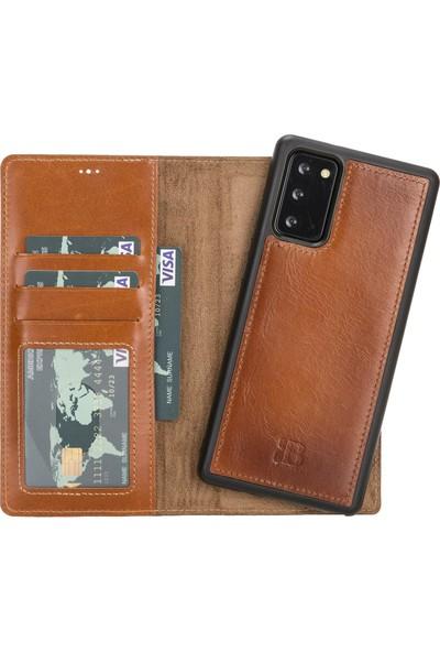 Burkley Mw Deri Telefon Kılıfı Note 20 RST2EF Taba Rfıd Özellikli