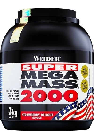 Weider Mega Mass 2000 Çilek Aromalı 3000 gr