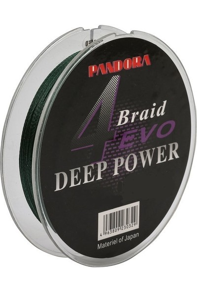 Pandora Deep Power 4 x Ip Dark Green Misina Boyut: 150 M Kalınlık: 0.16 mm
