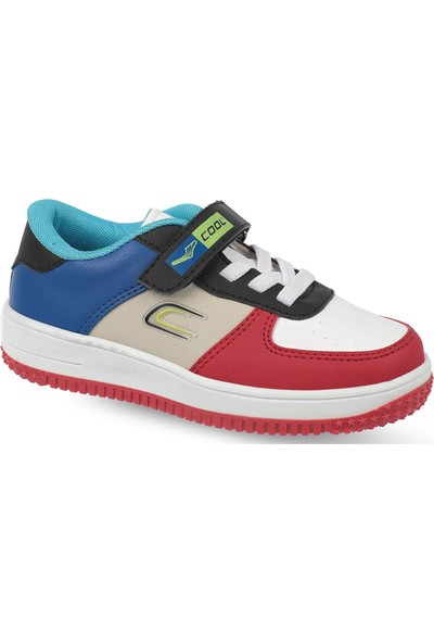 Cool Çocuk Beyaz Kırmızı Spor Ayakkabı (ATS1034-03)