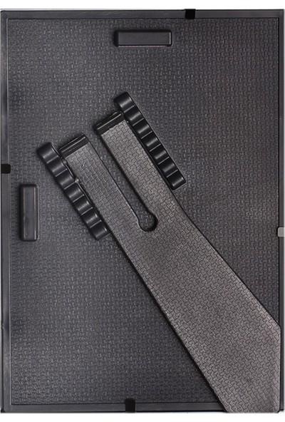 Lionking Siyah Gumüş 4 Adet 15X21-(A5)-(6X8) Ebat Ayarlanabilir Ayaklı Duvara Asılabilir Çerçeve Cam'lı