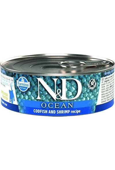 N&D Ocean Morina Balığı Karides Balkabağı Yavru Kedi Konserve 6 x 80 gr