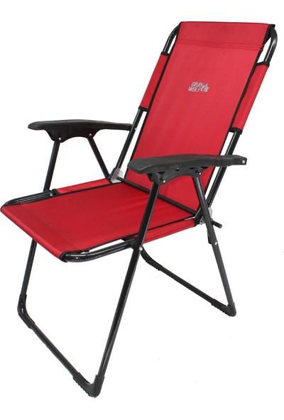 Graywolf Katlanır Kamp Sandalyesi - Balıkçı Sandalyesi (Kırmızı)