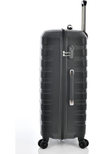 Ehs 1EH10601 Unisex 4 Tekerlekli Büyük Boy Valiz Siyah