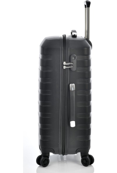 Ehs 1EH10601 Unisex 4 Tekerlekli Orta Boy Valiz Siyah