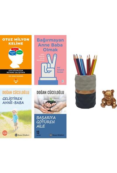 Otuz Milyon Kelime - Dana Suskind + Bağırmayan Anne Baba Olmak - Hal Edward Runkel + Geliştiren Anne Baba - Başarıya Götüren Aile - Doğan Cüceloğlu + Betonsu Tasarım Kalemlik Seti