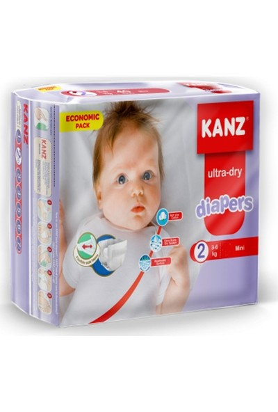 Kanz 2 Numara Bebek Bezi 3-6 kg Mini 160 Adet