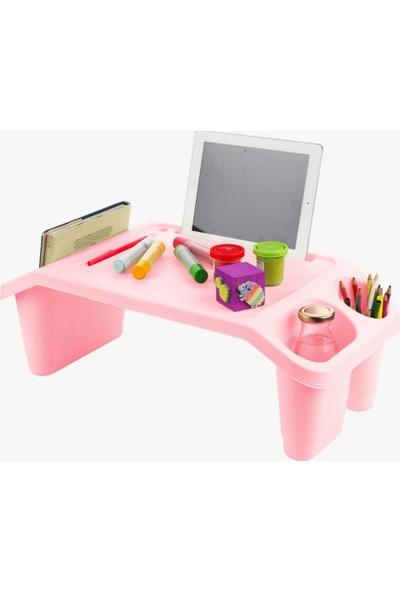 Happyspring Öğrenci Çocuk Ders Çalışma Masası Kahvaltı Laptop Sehpası Hobi Sehpası