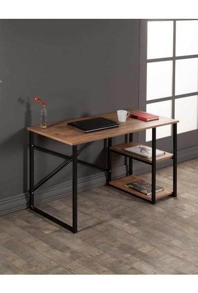 BLT EV GERECLERİ Blt Metal Çalışma Masası Ofis Bilgisayar Laptop Masası Raflı