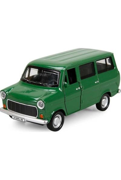 Birlik Metal Çekbırak Ford Sesli ve Işıklı Minibüs - Yeşil