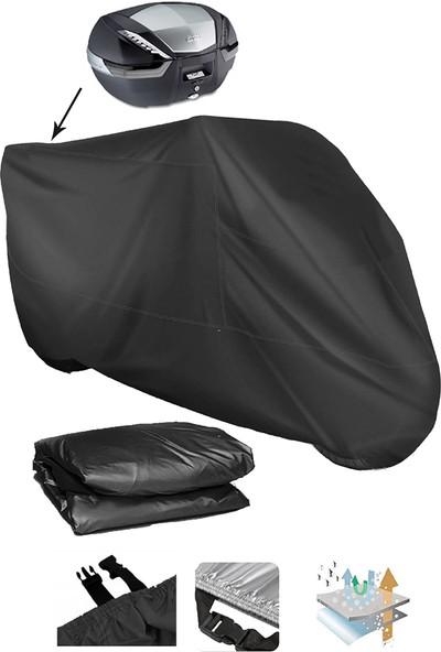 Coverplus Honda Fes 250 Foresight Motosiklet Brandası Arka Çanta Uyumlu - Siyah