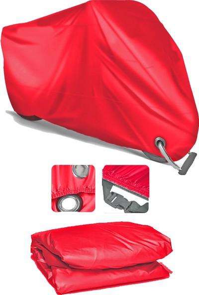 Coverplus Peugeot Trekker 100 Motosiklet Brandası Motor Branda - Kırmızı