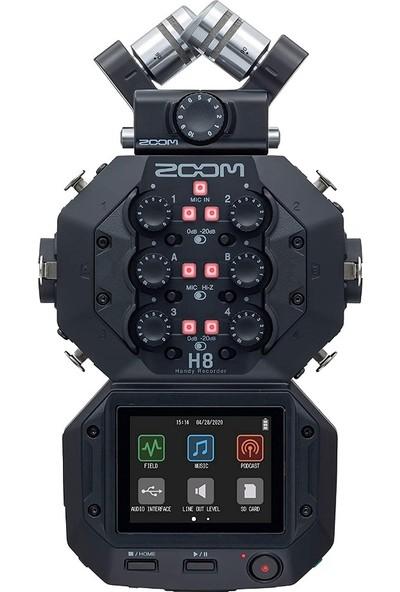 Zoom H8 Ses Kayıt Cihazı (Siyah)