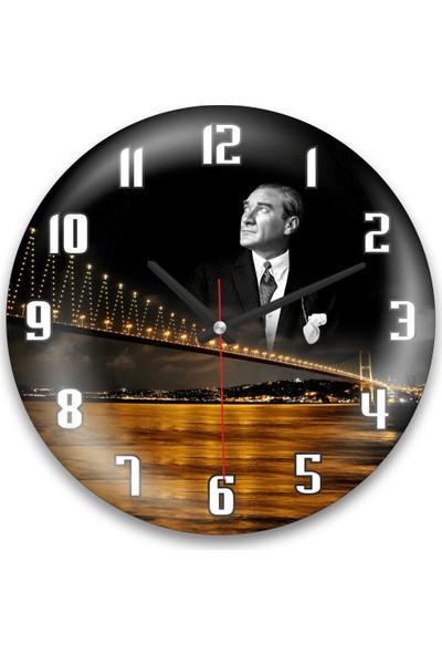 Revello Atatürk Temalı Bombeli Duvar Saati