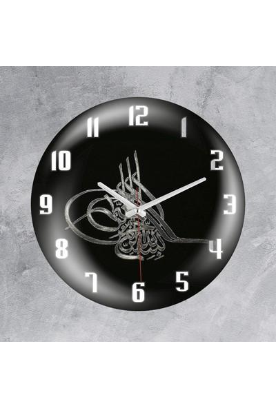 Revello Osmanlı Tuğrası Bombeli Duvar Saati