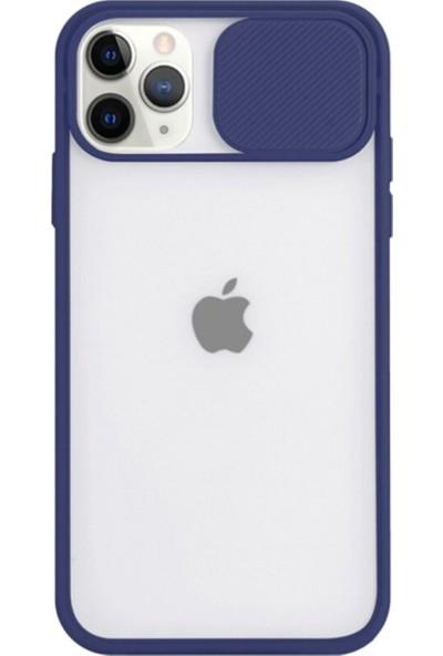 Gaga Apple iPhone 12 Mini Slayt Lens Korumalı Darbeye Dayanıklı Silikon Arka Kapak Lacivert