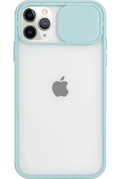 Gaga Apple iPhone 12 Pro Slayt Lens Korumalı Darbeye Dayanıklı Silikon Arka Kapak Turkuaz