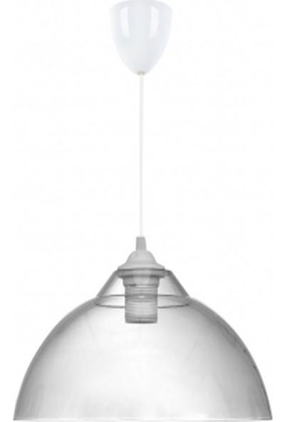 Örgün Aydınlatma Tekli Kristal Mika Şeffaf Beyaz Modern Sarkıt Avize Modelleri
