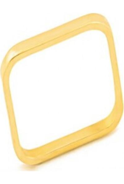 Dal Kuyumculuk 14 Ayar Altın Modern Kare Yüzük Modeli