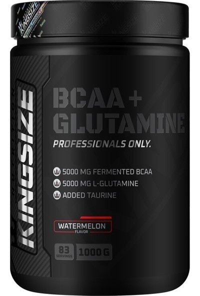 Kingsize Nutrition Bcaa + Glutamine Powder 1000 gr Karpuz