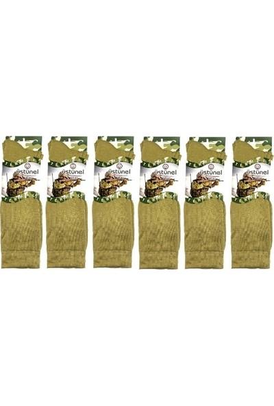 Seyhan Askeri Kışlık Termal Çorap Nano Yeşil (6 Çift)