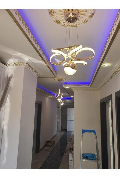 Luna Lighting Modern Gold LED Avize Ledli Avize