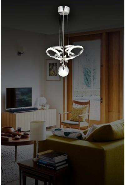 Luna Lighting Modern Luxury LED Avize Ledli Avize Krom