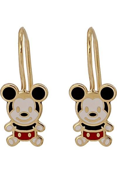 In Love Mickey Mouse Gümüş Çocuk Küpesi