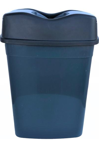 Romanoset Plastik Romanoset Girdap Çift Kapaklı Pratik Plastik Çöp Kovası 15 Litre