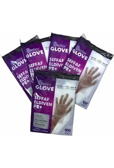 Reflex Glove Tek Kullanımlık Hışır Eldiven 500 ( 100'LÜ Paket 5 )