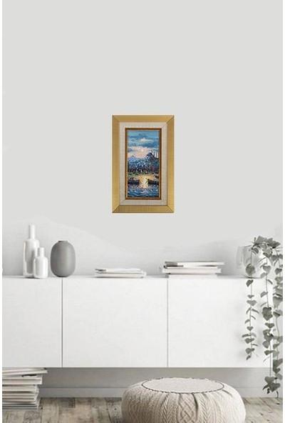 Panoramik Istanbul Temalı 28 x 18 cm Yağlı Boya Tablo
